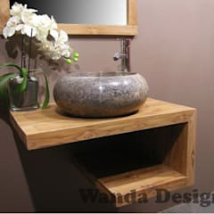Graphite sinks - graphite marble wash basins - stone vessel sink:  Bathroom by Lux4home™ Indonesia
