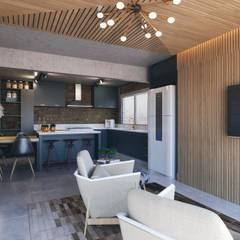 Cocinas de estilo  por Entreponto Arquitetura, Industrial