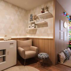Apartamento 04: Quarto infantil  por Entreponto Arquitetura,Industrial