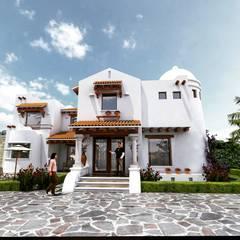 CASA DE ESTILO MEDITERRANEO: Casas de estilo  por VISION+ARQUITECTOS