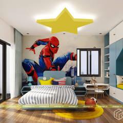 NHÀ Ở GIA ĐÌNH:  Phòng ngủ by UK DESIGN STUDIO - KIẾN TRÚC UK