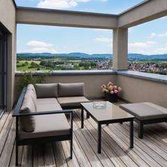 Wohnhaus K4 in Rechberghausen:  Terrasse von Gaus & Knödler Architekten