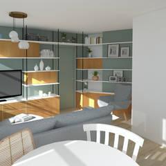 Rénovation complète Appartement Scandinave: Salon de style de style Scandinave par GRAM Architecture