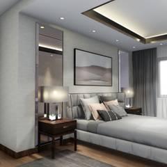 Sonraki Mimarlık Mühendislik İnş. San. ve Tic. Ltd. Şti. – AE Bulvar Rezidans Dairesi Konsept Projesi -Sonraki Mimarlık 2018 :  tarz Yatak Odası