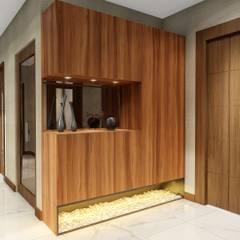Sonraki Mimarlık Mühendislik İnş. San. ve Tic. Ltd. Şti. – AE Bulvar Rezidans Dairesi Konsept Projesi -Sonraki Mimarlık 2018 :  tarz Koridor ve Hol