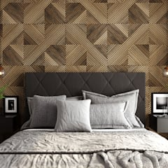 Dormitorios de estilo  por Fabíola Escobar - Pratique Arquitetura