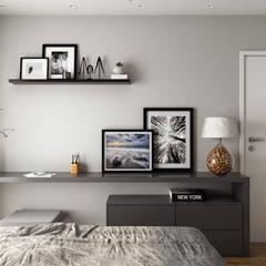 Residência D+R: Quartos  por Fabíola Escobar - Pratique Arquitetura