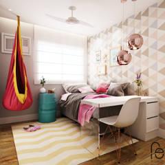 غرفة نوم بنات تنفيذ Fabíola Escobar - Pratique Arquitetura