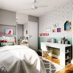 Girls Bedroom by Fabíola Escobar - Pratique Arquitetura