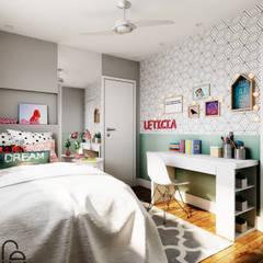 ห้องนอนเด็กหญิง by Fabíola Escobar - Pratique Arquitetura