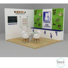 Centros de exhibiciones de estilo  por Decó ambientes a la medida