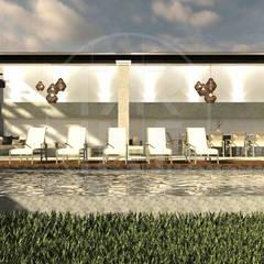 Alberca 1: Albercas de jardín de estilo  por TAR INTERIORES