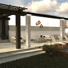 Deck: Jardines en la fachada de estilo  por TAR INTERIORES