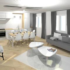 Rénovation de cuisine équipée.: Cuisine intégrée de style  par Tiffany FAYOLLE