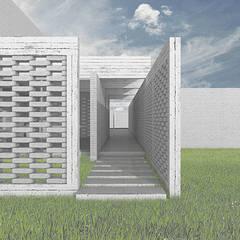 Acceso: Pasillos y hall de entrada de estilo  por mutarestudio Arquitectura