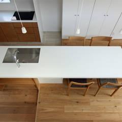 末広町の家: 福田康紀建築計画が手掛けたキッチンです。