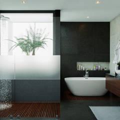 Casa AO: Baños de estilo  por CSR ARQUITECTURA,