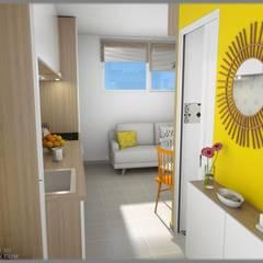 Aménagements studios: Couloir et hall d'entrée de style  par Art's Déco val d'oise