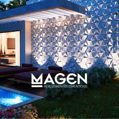 Nhà có sân thượng by MAGEN | Revestimentos Cimentícios
