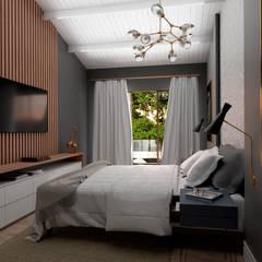 Quarto de Casal: Quartos  por Agenor Gomes Arquitetura + Design