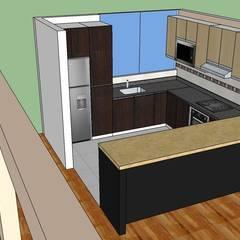 FABRICACIÓN REPOSTERO: Muebles de cocinas de estilo  por MARSHEL DUART SRL
