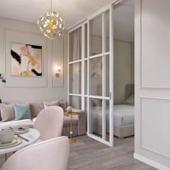 Living room by Студия архитектуры и дизайна Дарьи Ельниковой