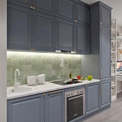 Апартаменты  40 кв.м., в стиле эклектика ЖК I*m.: Кухни в . Автор – Студия архитектуры и дизайна Дарьи Ельниковой