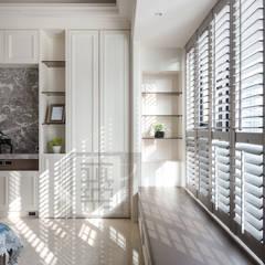 大樓住宅設計/顏公館:  臥室 by 沐築空間設計
