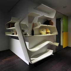 室內設計 市政廳 HL House:  牆面 by 黃耀德建築師事務所  Adermark Design Studio