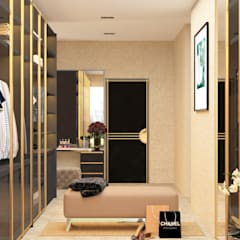World Towers, Upper Worli:  Dressing room by Urbane Storey