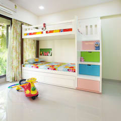 Lakhanis, Mumbai:  Nursery/kid's room by Urbane Storey