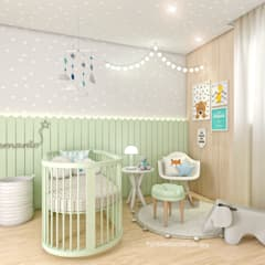 غرف الرضع تنفيذ Gabriela Andrade Arquitetura
