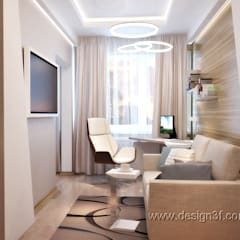 minimalistic Study/office by студия Design3F