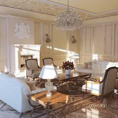 Интерьер посольства: Гостиная в . Автор – студия Design3F