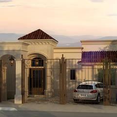 Fachada principal: Casas de estilo  por TAR ARQUITECTOS