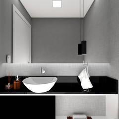 Lavabo: Banheiros minimalistas por Estúdio j2G| Arquitetura & Engenharia