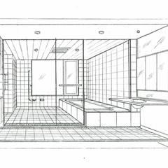 スケッチ:浴室: 中浦建築事務所が手掛けた浴室です。