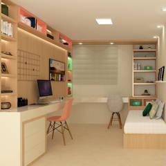 Habitaciones para adolescentes de estilo  por Tatiana Guimarães Arquitetura