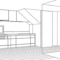 キッチン: 中浦建築事務所が手掛けたシステムキッチンです。