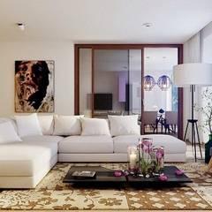 : asiatische Wohnzimmer von Công ty thiết kế xây dựng Song Phát