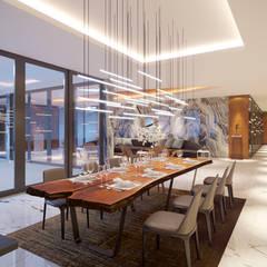 Long Beach center Penthouse - Phu Quoc:  Phòng ăn by Archifix Design