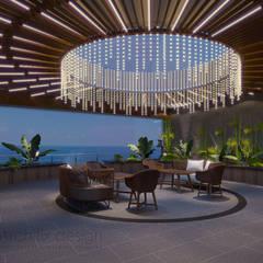 Long Beach center Penthouse - Phu Quoc:  Hiên, sân thượng by Archifix Design,