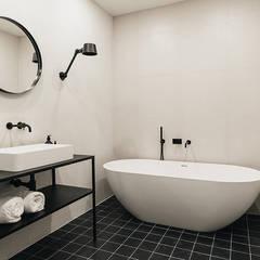 INTERIEUR ONTWERP & VASTGOEDSTYLING | JACOB GILLESSTRAAT TE DEN HAAG: minimalistische Badkamer door Studio Kustlijn Architecten