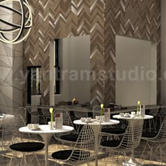 Grant Hawana Interior Modern Rendering Design Ideas:  Dining room by Yantram Architectural Design Studio