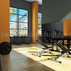 Modern Wall Paints Gym Design Ideas: classic Gym by Yantram Architectural Design Studio