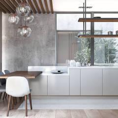 Bloom Marinha, Cascais: Cozinhas embutidas  por DZINE & CO, Arquitectura e Design de Interiores