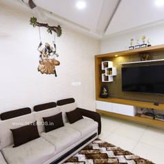 Ruang Keluarga oleh Interios by MK Design, Modern