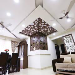 Elegant 3BHK Interior Design At Prestige Bella Vista: Modern Living Room By  Interios By MK