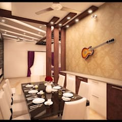 Villa Interior Design:  Dining room by Interios by MK Design