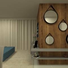 Sala estar/jantar: Salas de estar ecléticas por GABRIELA GUERREIRO | ARQUITETURA